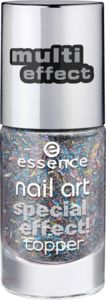 nail art smalto unghie top coat ad effetti speciali 15 glitter on me - essence cosmetics