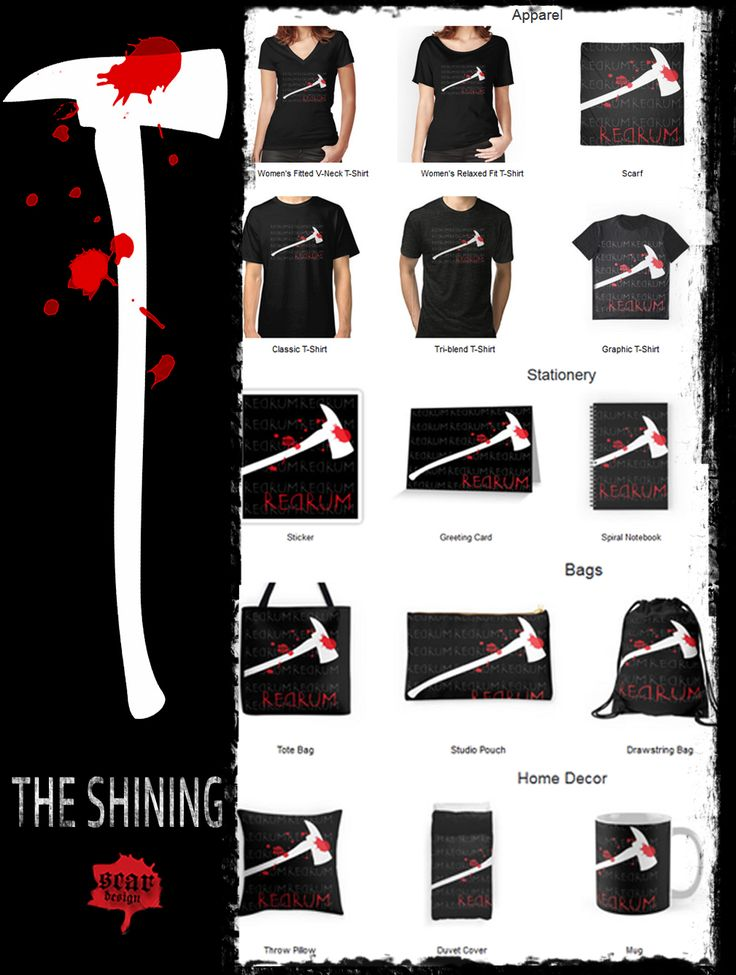 THE SHINING MOVIE GIFTS by Scar Design  #tshirts #scarf #fashion #giftsforhim…
