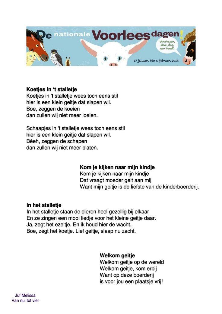 Liedjespagina 'Nationale Voorleesdagen 2016'