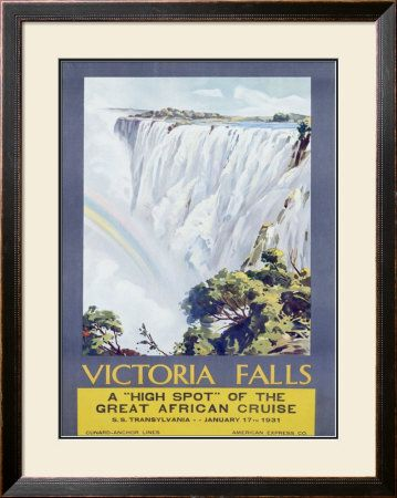 Cunard Line, Victoria Falls, 1931 Giclee Print by W. G. Bevington - at AllPosters.com.au