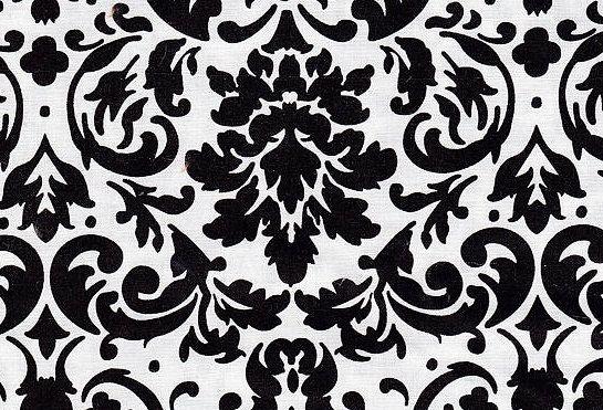 Sconto del tessuto di moderno design. Questo elenco è per Damasco nero bianco di fratello & sorella Design tessuto di cotone 100% che è 44-45