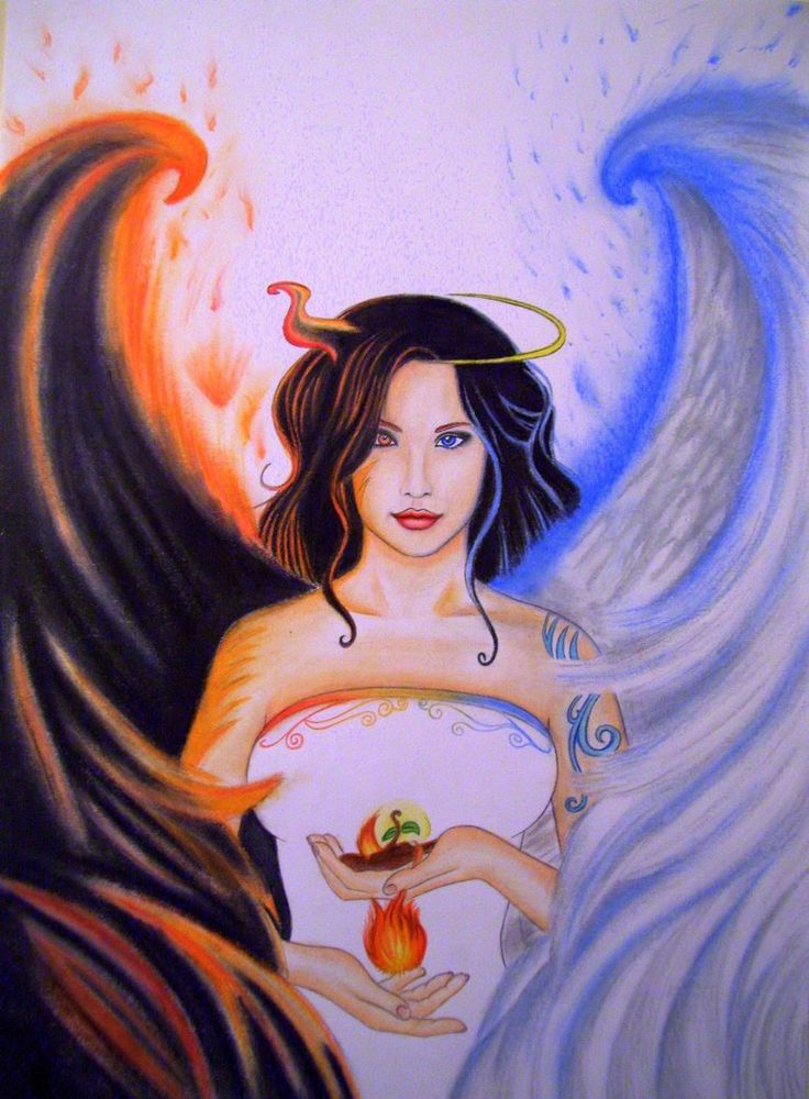 Angel or Devil? by AquaticOcean on DeviantArt
