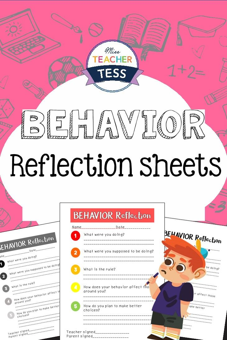 Accountability and ownership for your students! Behavior reflection sheets and notes for parents to help your students make better choices.