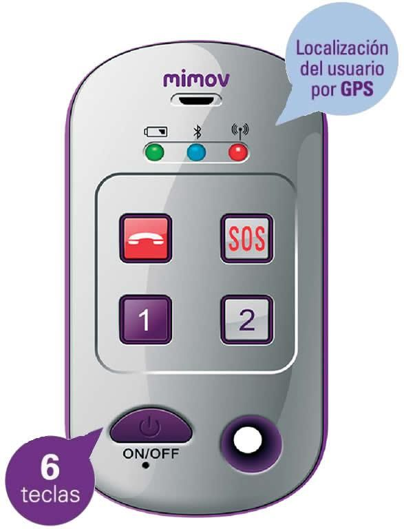 Teléfono móvil MIMOV con localizador gps