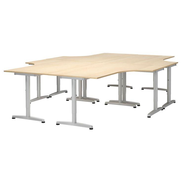 Ikea Schreibtisch Unterlage ~ GALANT Workstation  birch veneer  IKEA  Our New Office  Pinterest