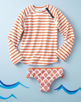 Summer Camp Essential - Rashguard Set by Cabana Life at Garnet Hill Kids