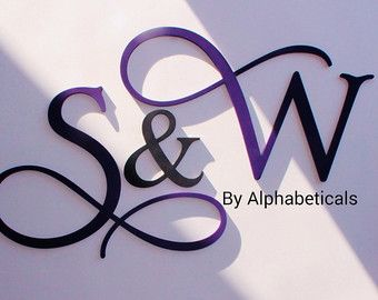 His and Hers Wooden Letters Wall Decor Wooden by Alphabeticals