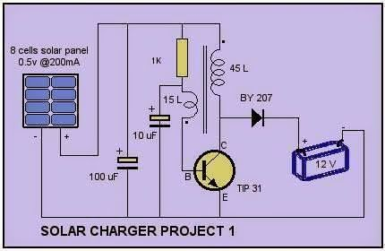 Solar Cell Charger Schematic | Electrical Engineering World
