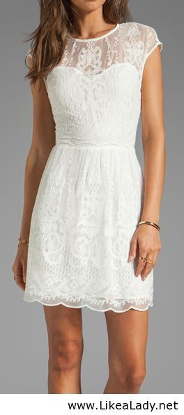 White lace dress - classy and fabulous with a statement necklace