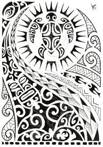 tatouage maori tour cuisse