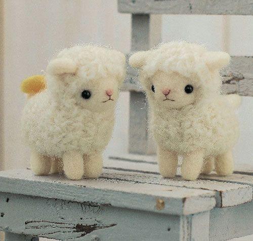 Japanese Wool Needle Felting Craft Kit -  White Sheeps. $17.00, via Etsy.