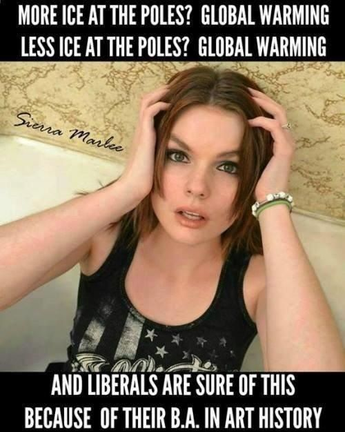 Global warming? Just ask a lib with a BA in Art History!