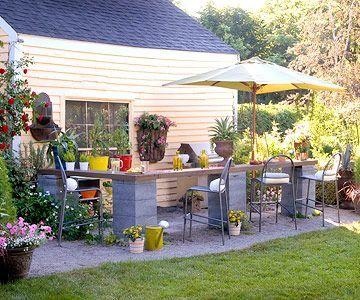 Outdoor kitchen on a ministers budget!:) | http://livingroomskale.blogspot.com