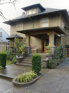 paneled post and planting in concrete   turn of the century american four square homes