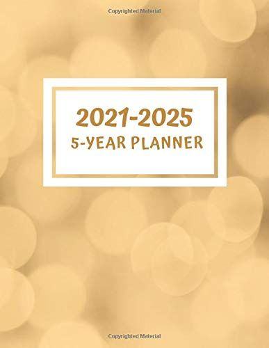 5 Year Planner 2021 2025 60 Monthly Calendar January 2021 December 2025 Address Book Letter Password Tracker Re In 2020 Yearly Planner Planner Book Letters