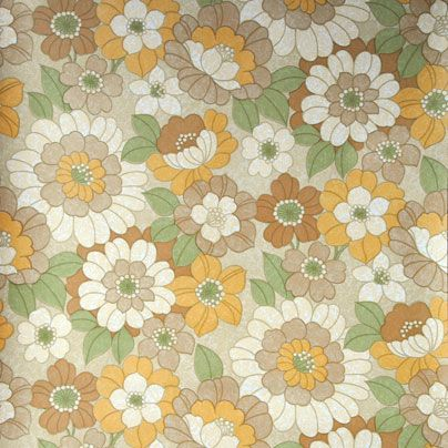 Vintage behang bloem met blad allover   Kriz Lifestyle