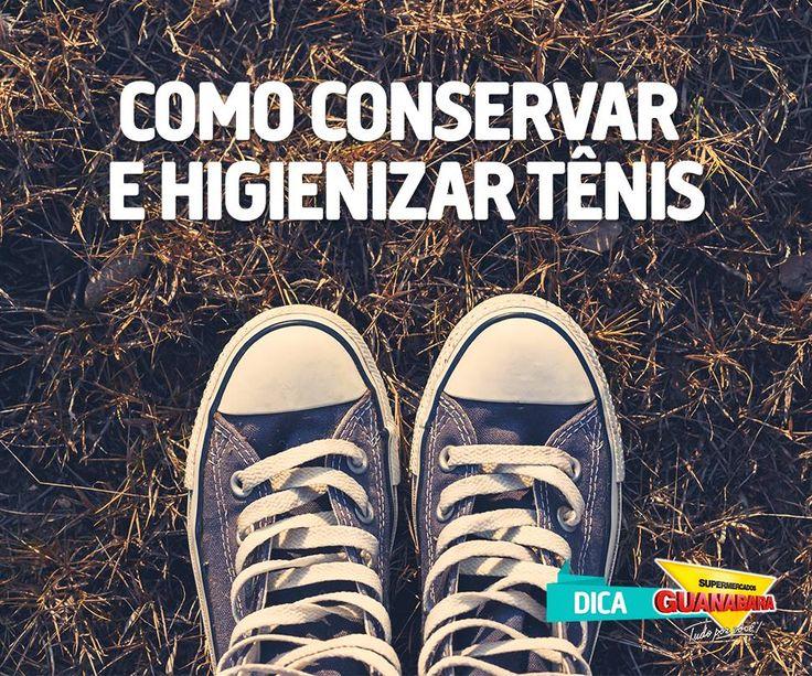 Como conservar e higienizar tênis — Supermercados Guanabara