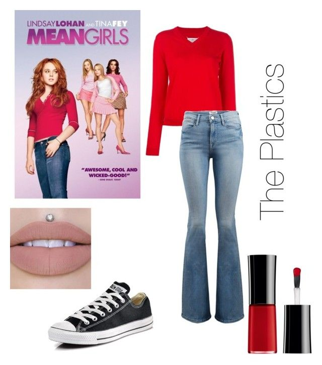 """Mean Girls (Cady)"" by styleicon4ever ❤ liked on Polyvore featuring Maison Margiela, Frame, Converse and Giorgio Armani"