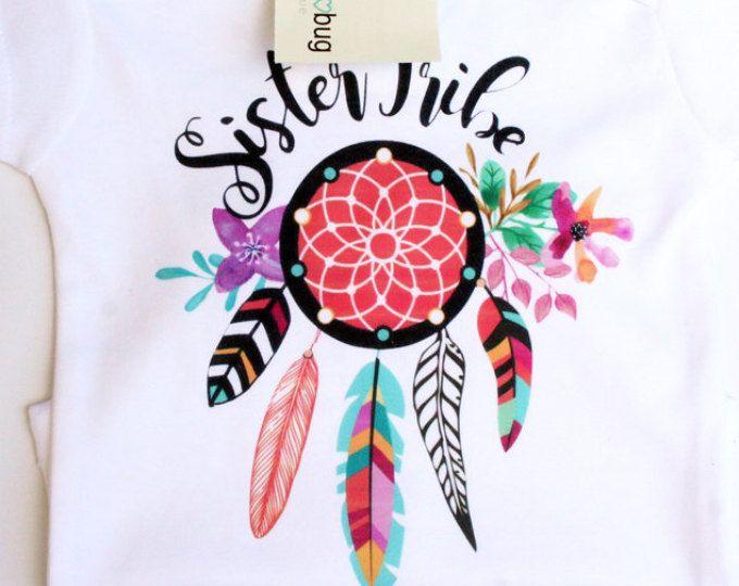 Big Sister Shirt / Little Sister Shirt / Sibling Shirts / Boho Sister T shirt / Boho Sister Onesie / Boho Sister Shirts / Baby Boho Onesies