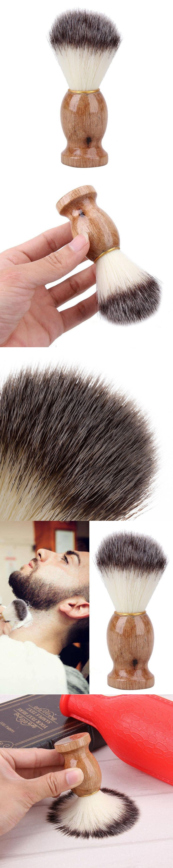 Men Shaving Bear Brush Bear Cleaning Brushes Best Badger Hair Shave Wooden Handle Razor Barber Tool Shave brush