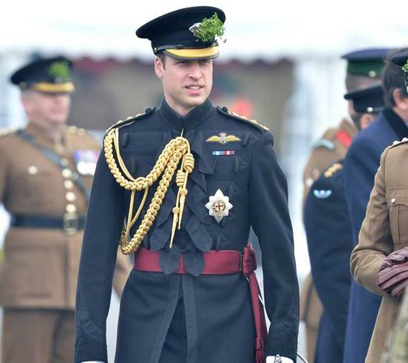 HRH Prince William attends the St Patrick's Day Parade