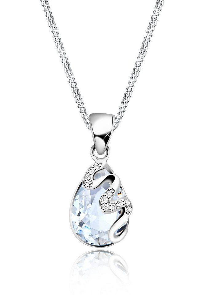 Elli Halskette »Tropfen Swarovski Kristalle Zirkonia 925 Silber«