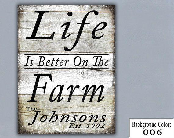 Life is better on the farm.  Family sign, pallet art.