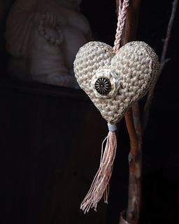 Using an F hook and the Lily's Sugar and Cream yarn, your heart will be 2 inches…