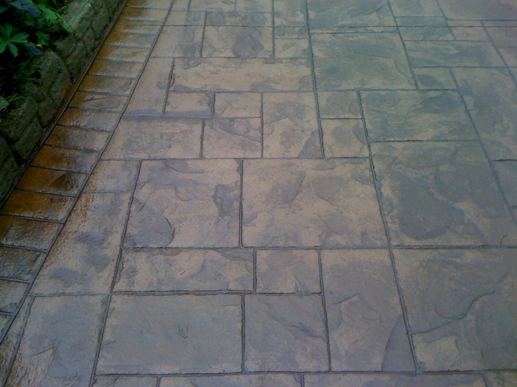 Stamped Concrete Siding : Best images about stamped concrete patio ideas on