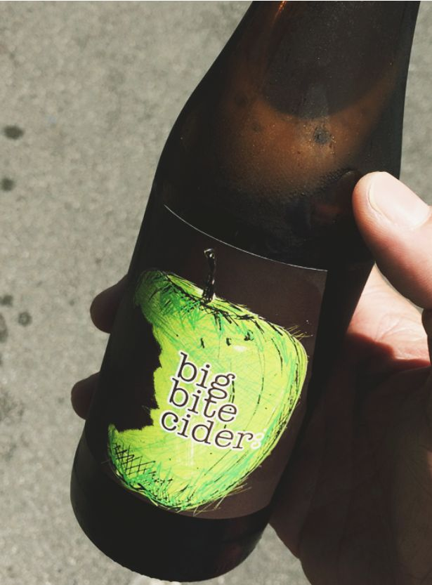 Big Bite Cider from Velo Winery North of Launceston in Tassie. Good drink middle to sweet, The D didn't like it so much but The H does.  I think a little Yeasty sometimes but other times it goes down smooth