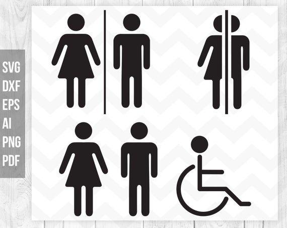 Restroom Sign Svg Bathroom Svg Toilet Door Sticker Restroom Etsy Door Stickers Restroom Sign Toilet Door