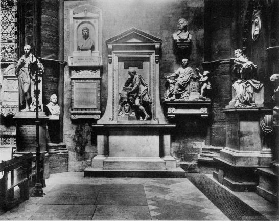 Poets corner - Burials and memorials in Westminster Abbey