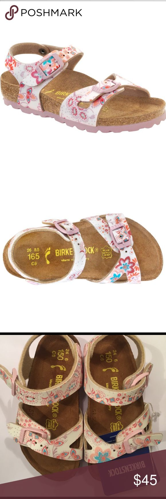 NEW Toddler girl BIRKENSTOCK RIO Cute Flowers Rose Brand new with tags!  Birkenstock Rio toddler little girls sandals!  Arizona style.  Cute flowers rose print.  Size 6 available.  Super comfortable and darling! Birkenstock Shoes Sandals & Flip Flops