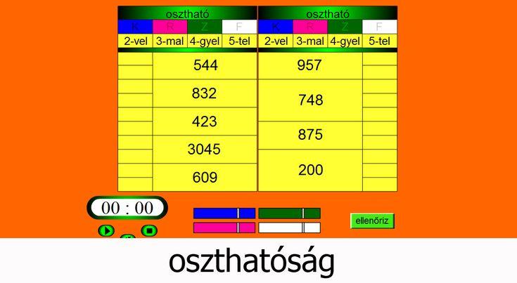 Interaktív játékos feladatok - Matematika 3. osztály