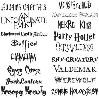 free scary fonts macworld - Halloween Name Ideas