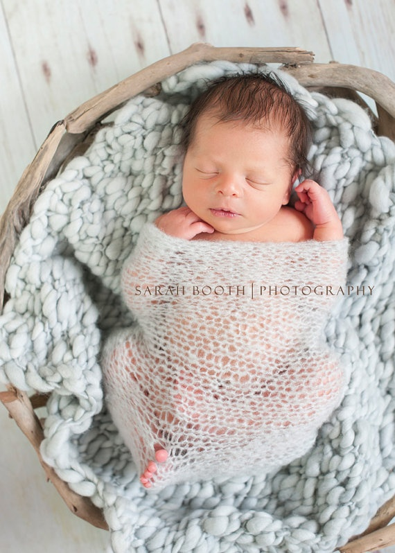 Knitting Photography Props : Timeless knit wrap quot newborn photo prop