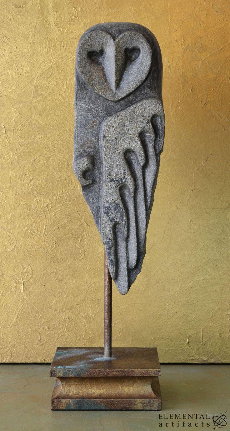 Stein-Eulen-Skulptur