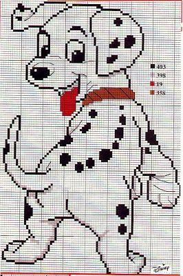 Schemi a punto croce gratuiti per tutti: Raccolta di schemi punto croce -cartoni animati - la carica dei 101