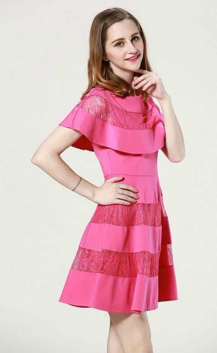 Pink dress fashion
