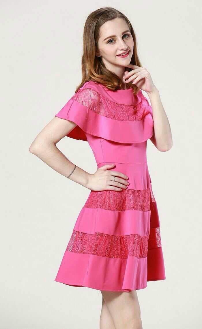 Pink dress fashion