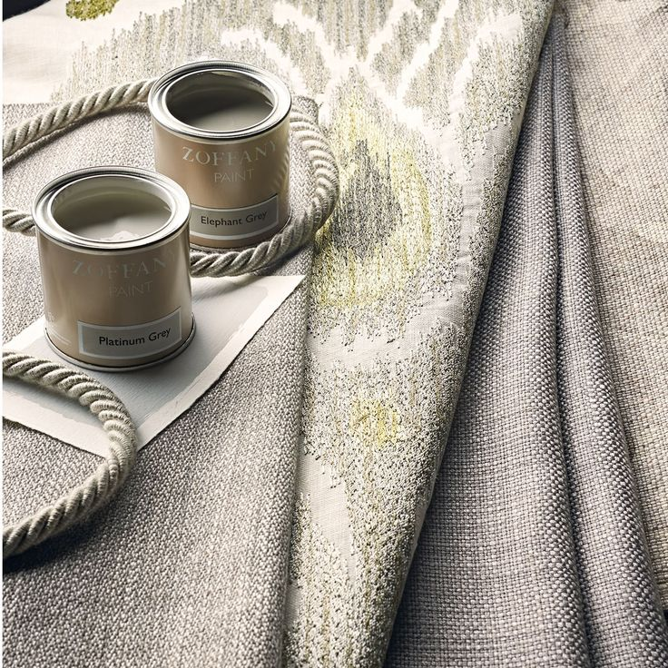 Taken from Zoffanys Annapurna printed fabric from the Town & Country collection, this embroidered ikat design features soft tonal embroidery colours and a hint of metallic thread to highlight.