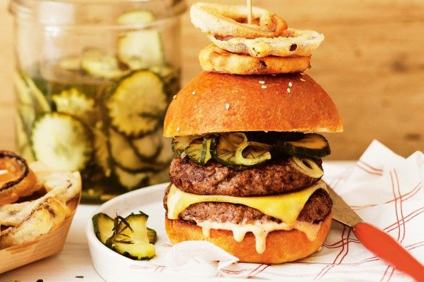 Double-decker cheeseburgers main image