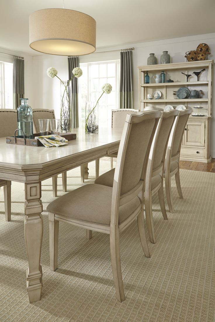 Room dining room groups mestler bisque rectangular dining room table - The Demarlos Dining Collection By Ashley Signature Design Furniture Dining Vintage Abfmarietta Dining Room