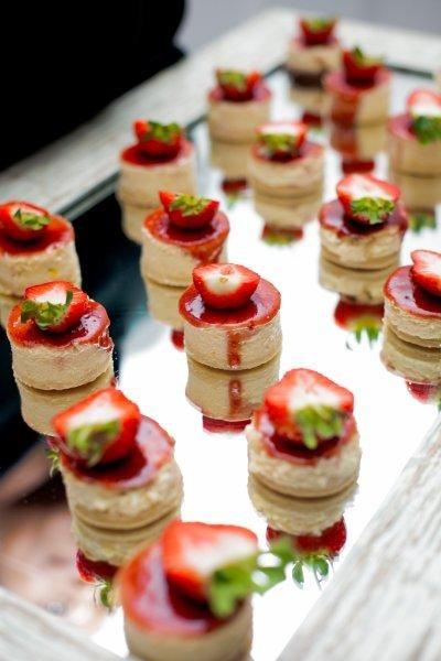 new york style cheesecake with fresh berry garnish