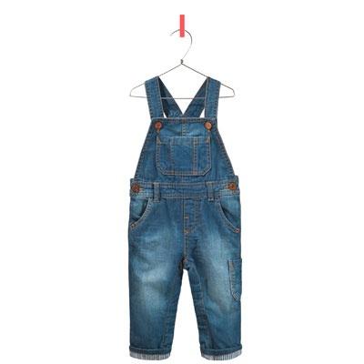 комбинезон деним с отворотами в полоску - Джинсы - Одежда для малышей (мальчиков) - Детская одежда - ZARA Россия