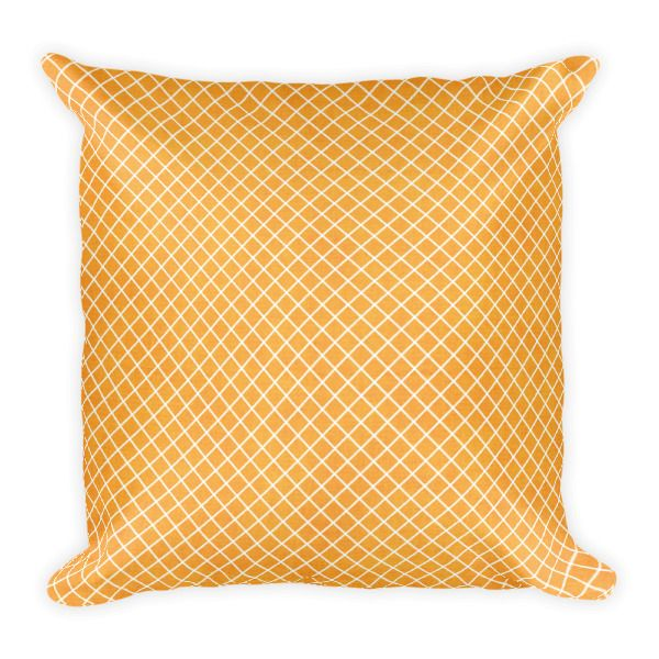 Square Pillow – Orange Pattern Throw Pillow    http://classicbeautydesigns.com/product/square-pillow-orange-pattern-throw-pillow/