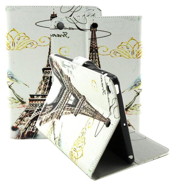Luxury (Stand Feature) Folio Flip PU Leather Hybrid Print Colorful Drawing Case Cover Card Slot For funda iPad Mini 1 Mini 2 3