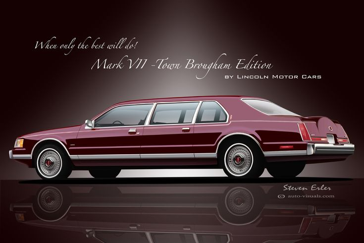 Lincoln Motor Company >> 1990 Lincoln Continental Mark VII: Town Brougham Edition Limousine: CONCEPT | Lincoln ...