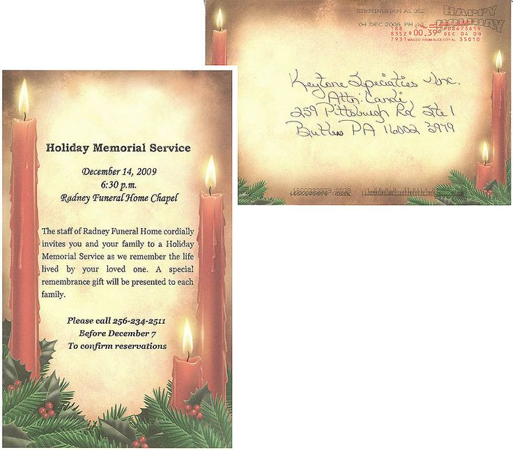 memorial service programs sample