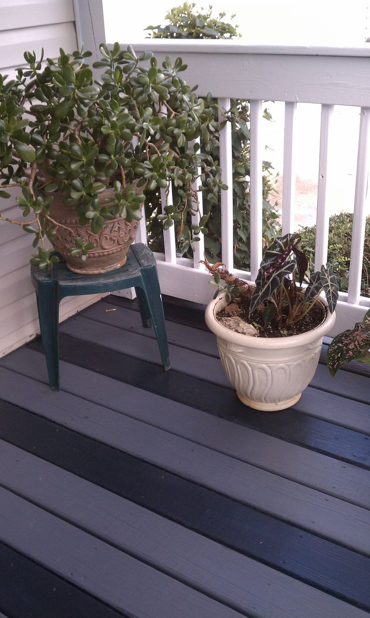 Paint your deck and porch.  Valspar is so worth it!  Might have to floor my camper with plywood and paint
